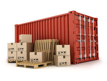 Container and box Royalty Free Stock Photo