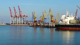 Container bridges stock video