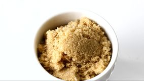 A container of brown sugar stock video