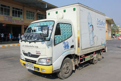 Container car of Singha Drinking Water. Royalty Free Stock Photo