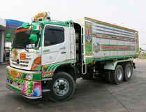 Container car in thailand Royalty Free Stock Images