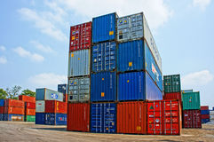 Container at cargo depot, Ho chi Minh city Royalty Free Stock Images