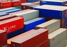 Container at cargo depot, Viet nam Royalty Free Stock Photo