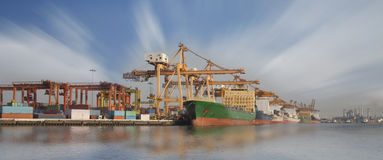 Container Cargo freight ship Stock Image