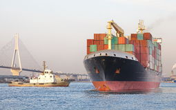 Container Cargo freight ship Royalty Free Stock Photography