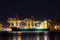 Container cargo freight ship. At port Stock Photos