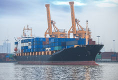 Container Cargo freight ship w Stock Photography