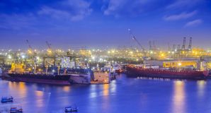 Container Cargo freight ship Stock Images