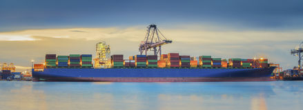 Container Cargo freight ship Stock Photography