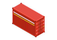 Container. Cargo container isometric  design Royalty Free Stock Images