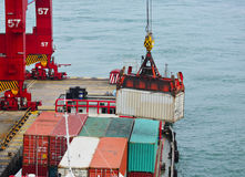 Container cargo operation Royalty Free Stock Photos