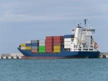 Container Cargo Ship Stock Photo