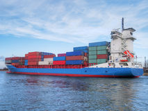 Container Cargo Ship Stock Photo