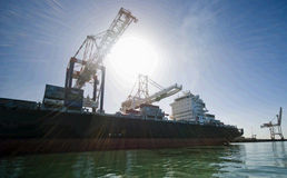 Container Cargo Ship moored alongside. Stock Photography