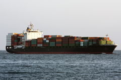 Container cargo ship at sea. Stock Images