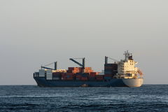 Container cargo ship at sea. Royalty Free Stock Photo