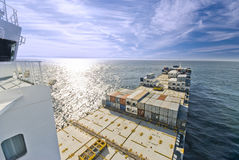 Container Cargo Ship underway Royalty Free Stock Photography