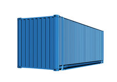 Container for cargo transportation. Isolated on white background with path stock illustration