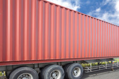 Container cargo truck Stock Images