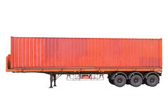 Container cargo truck on white background Stock Image