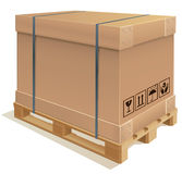 Container carton Royalty Free Stock Image