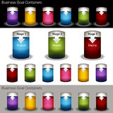 Container Chart Banner Set Stock Images