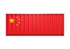 Container with China Flag royalty free illustration