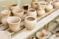 Container clay artisans Stock Photos