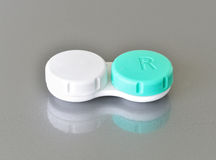 Container for contact lenses Stock Photo