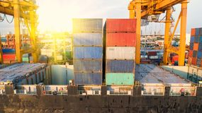 container,container ship in import export and business logistic,By crane,Trade Port , Shipping,cargo to royalty free stock photos