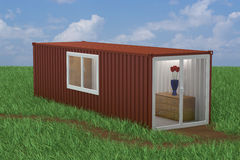 Container Converted into Home Royalty Free Stock Photography