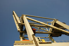 Container crane. For pick up containers in harbour Royalty Free Stock Photography