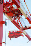 Container crane. For lifting containers on cargo ships Stock Image