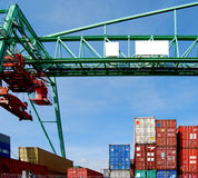 Container and crane Royalty Free Stock Image