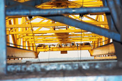 Container Crane Arm. Framed image of a container crane arm Stock Images