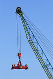 Container crane. Infront of blue sky Royalty Free Stock Photo