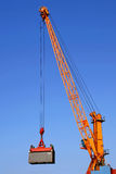 Container crane at work Stock Image