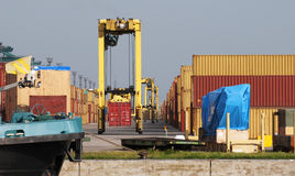 Container cranes Stock Photography