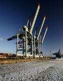 Container Cranes Stock Photo
