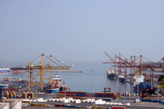 Container cranes 2 Stock Image