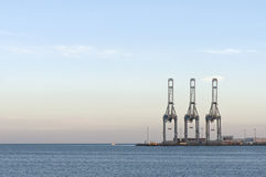 Container Cranes Royalty Free Stock Photos