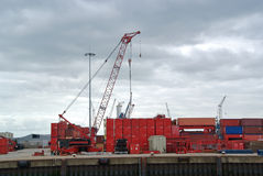 Container cranes at the port Stock Photos