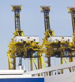 Container Cranes In A Port Or Dock Royalty Free Stock Images