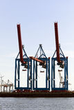 Container cranes at the Port of Hamburg Stock Photos