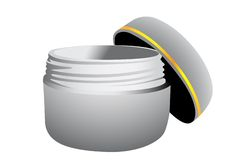 Container with a cream Stock Photography
