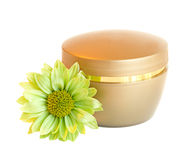 Container of cream Royalty Free Stock Image