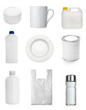 Container cup mug bottle and bag Royalty Free Stock Photo