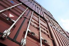 Container in de hemel royalty-vrije stock fotografie
