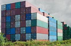 Container depot Royalty Free Stock Photos