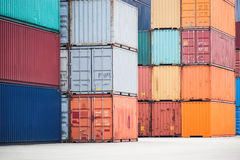 Container depot Stock Photo